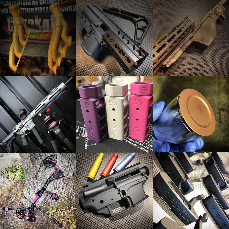 Inspiration vapen, kolvar och annat lackat med Cerakote